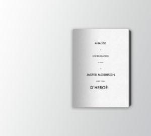 graphisme-illustration-livre-graphisme-jasper-morrison-vs-herge